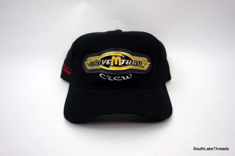 6e27139f1 Bill Elliott #94 McDonalds Drive Thru Crew Vintage Snapback Hat Cap Black