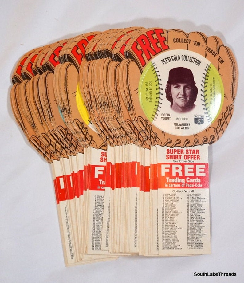 1977 Pepsi Cola Collection Baseball Stars Disc SET 72 of 72 image 0