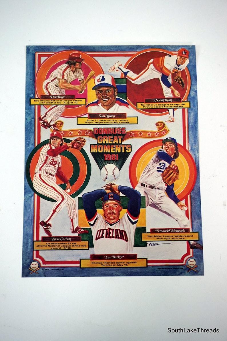 1981 Donruss Great Moments 8x10 Color Poster Pete Rose Nolan image 0