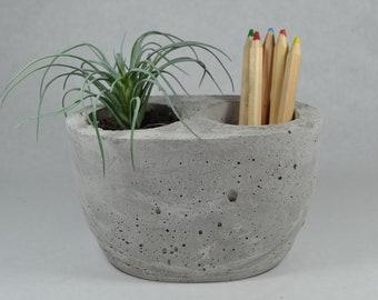 Concrete Organizer | Concrete Container | Bathroom Organizer | Office Organizer | Bathroom Decor | Indoor Storage