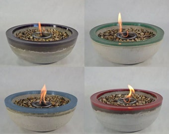 Concrete Fire Bowl   Choose Color | Fire Pit | Tabletop Fire Pit | Outdoor  Patio | Outside Decor | Colored Bowl | Fire Gel | Zen Garden