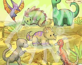 50% OFF Dinosaur Clip Art