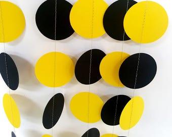 BATMAN - Paper Circle Garland - Nursery, Party, Shower, Children's Room decoration.