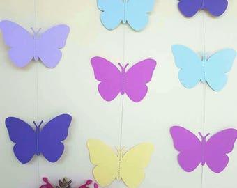 BUTTERFLY GARDEN - Party Garland, Nursery, Room Decor