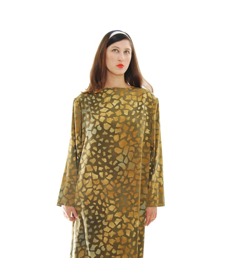 c9f8244d953 SALE Womens Dresses. Vintage Clothing.70s Dress. Olive And