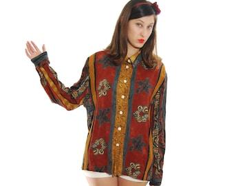 80s Retro Blouse, 1980 Blouse, Blouses, Elegant Blouse, Vintage Blouse, 80s Blouse, Mix Color Fashionable Vintage Blouse For Women 1980s