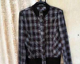SALE Vintage Jacket.80's Jacket.Vintage Clothing.Jackets.Women Jacket.1980 Jacket.Black Elegant Vintage Jacket For Women 1980s. Size M
