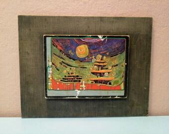 Vintage Art, Wall Art, Color wall picture, Collectors picture, Picture, Living Room Picture, Vintage Picture, Vintage Decor, Van gogh Style