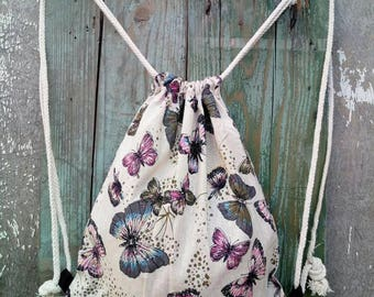 gym bag, backpack, Fabric backpack, backpack bag, drawstring bag, drawsting tote, sack bag, Unisex Backpack, beach backpack, Backpack