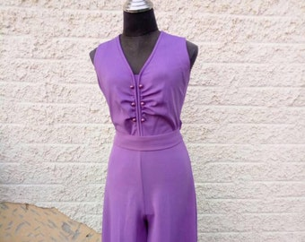 Overalls, 50s, Womens clothing, womens overalls, women's clothing, overalls Vintage, 50s Vintage jumpsuit, Floral overalls, Purple overalls