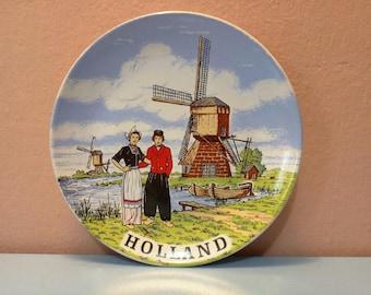 Holland Wall plate, Wall plate, Collectors wall plate, Wall Hangings Plates, Plate collectors,Decorative Wall Plate,Vinatge Wall Art, Plates
