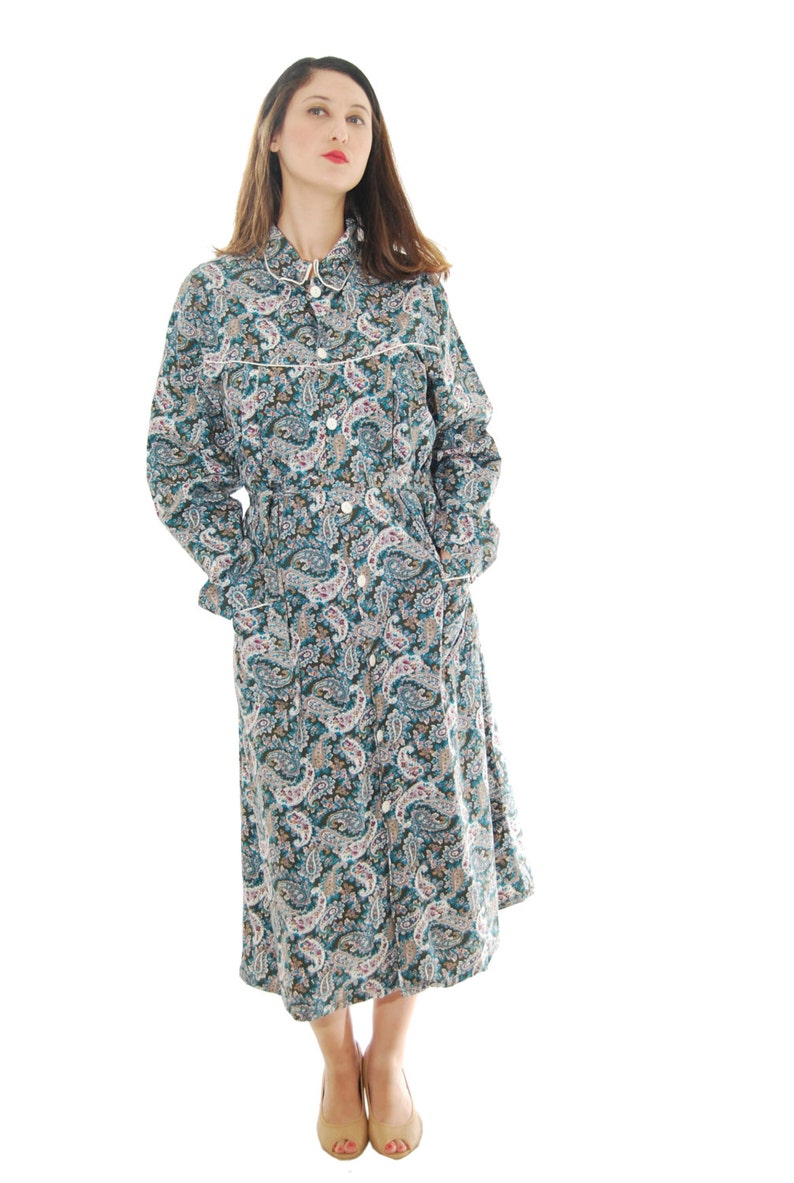 1960 Vintage Dress.60/'s Dress.Women/'s Dresses.Mix Color Paisley Print Vintage Dress 1960s.Free Shipping.Size OS