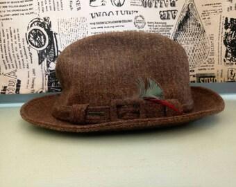 Vintage Brown hat, Stetson, vintage Fedora, wool Fedora, Retro Hat, Vintage unisex Hat ,Vintage Hat, Womens Hat, 1800s Hat, Hats, Sun hat
