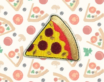 Pizza Iron on Patch(M2)-Pizza Applique Embroidered Iron on Patch -Size 5.1x5.1 cm