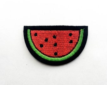 Watermelon Iron on Patch(M2) - Watermelon Applique Embroidered Iron on Patch-Size 5.2x3.3cm