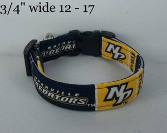 NHL Nashville Predators Dog Collar Gold Small