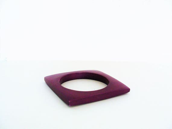 Vintage Mid-Century Square Purple Bangle / Bracelet