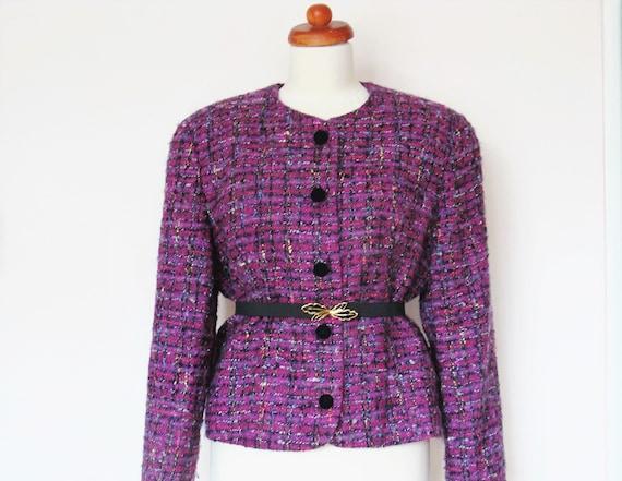 Vintage  Bouclé Wool Mohair Jacket / Size M