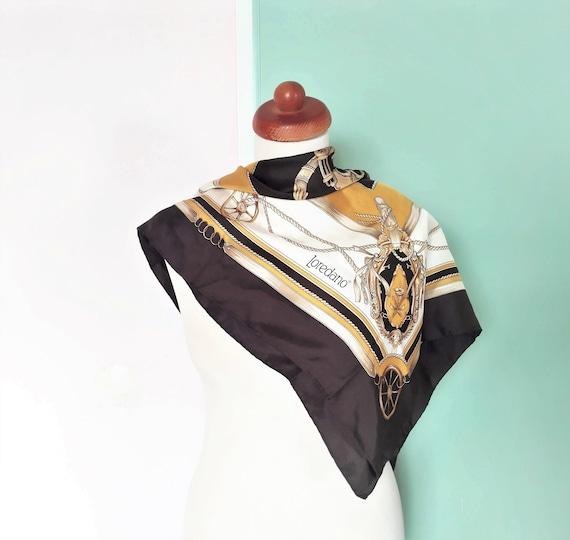 Vintage Loredano Silk Multicoloured Scarf