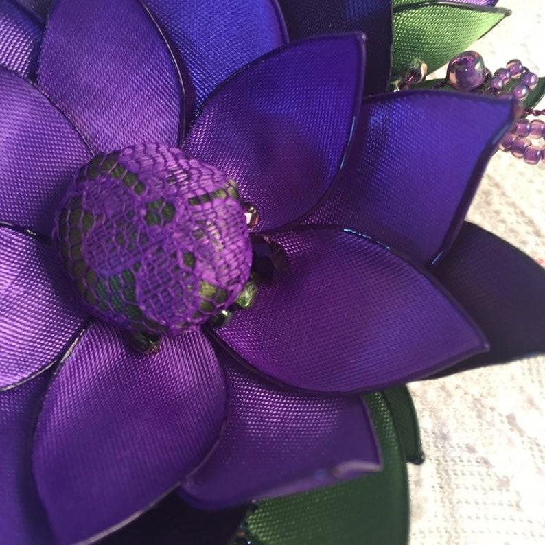 mother of bride Purple beaded brooch beaded vine flower mother of groom purple plum green special wedding corsage luxury corsage