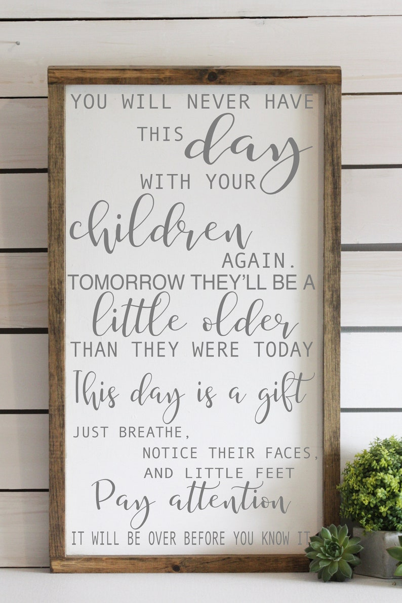 Let them be little, What children need most, wood sign, family decor,  inspirational children quote, new mom gift - baby shower gift