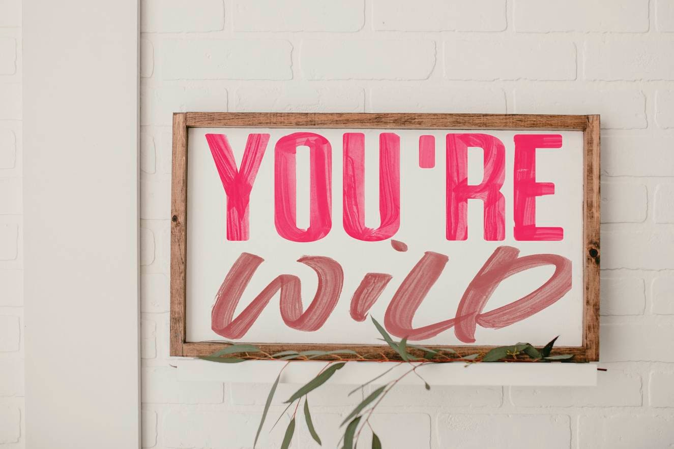 You Re Wild Framed Wood Sign Wall Decor Girls Bedroom