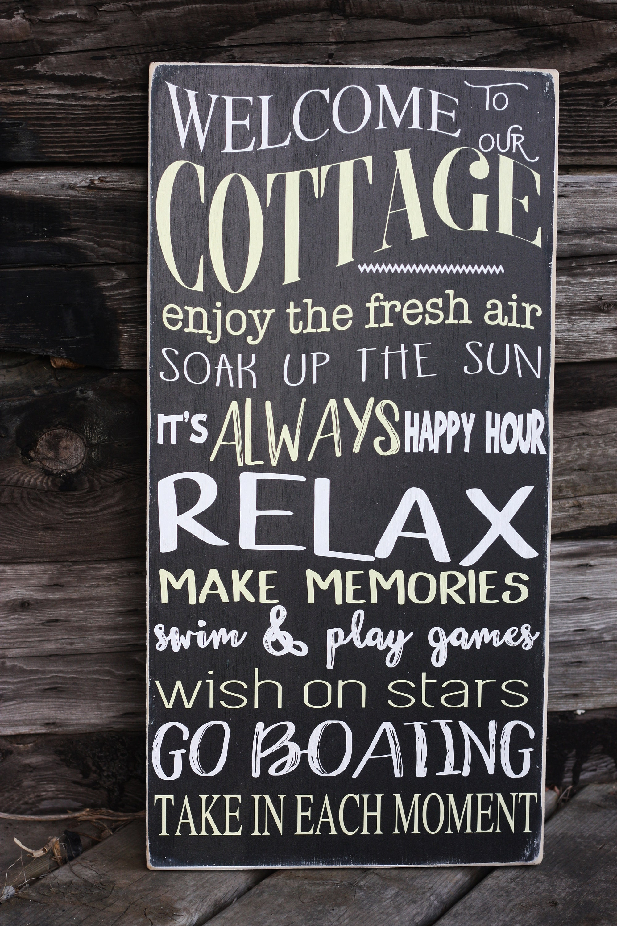 Cottage Rules Sign Welcome To Our Cottage Cotrage Rules