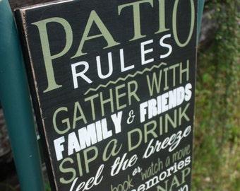 Patio sign, customizable patio decor, porch sign, deck sign, Wood decor, Home Decor,  Outdoor sign, summer sign, patio accent