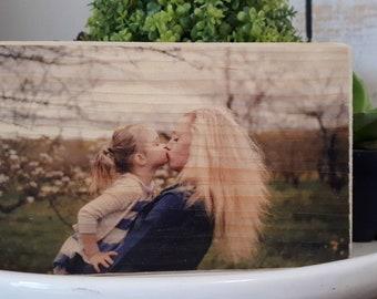 Photo on wood / custom photo block
