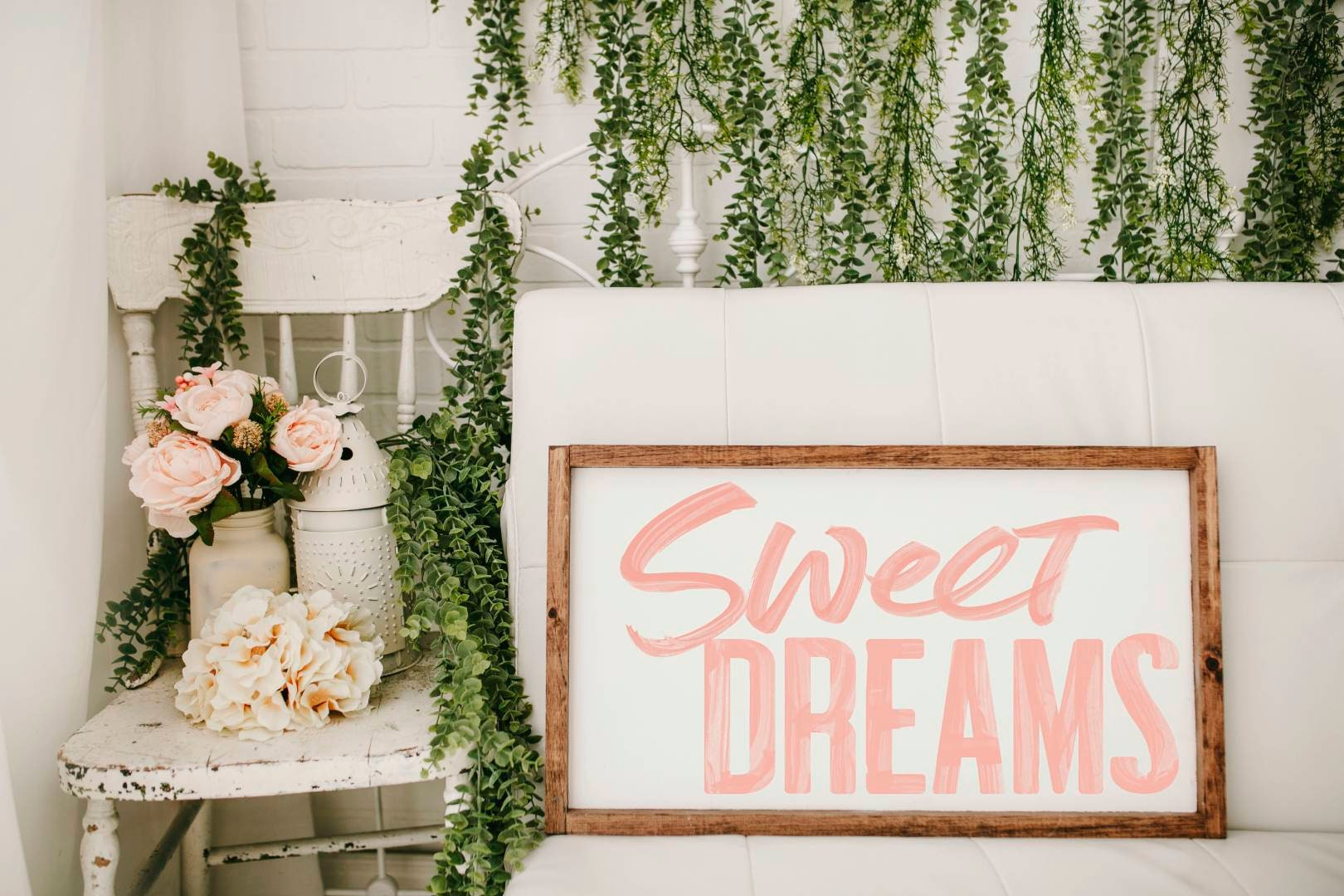Sweet Dreams Framed Wood Sign Nursery Decor Girls