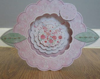Handmade 3d floral Birthday / Mothers day card