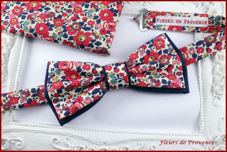 fd79d0beebd Set Noeud Papillon double et Pochette costume assortie Tissu