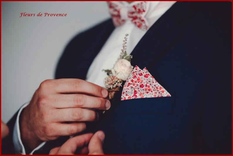 b88f3955c99 Pochette costume Tissu Liberty Phoebe rose homme