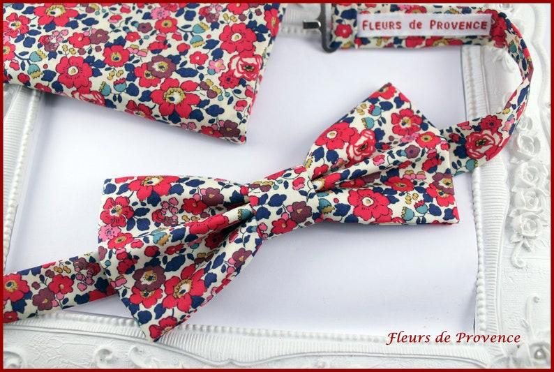 f7bcdc2e48a Set Noeud Papillon et Pochette costume assortie Tissu Liberty