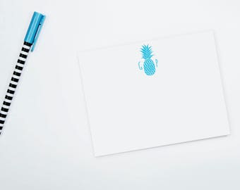 Personalized Note Cards - Pineapple Monogram