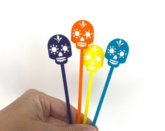 Sugar Skull Swizzle Sticks