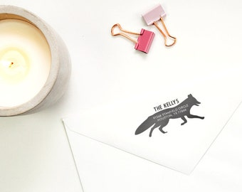 Personalized Address Stamp - Fox