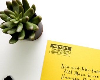 Personalized Address Stamp - Bold
