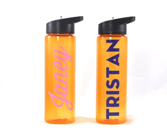 Personalized Sport Bottle - Orange, Weekly Hydrate, Custom Water Bottle, Personalized Bottle, Personalized Cup, Gift for Her