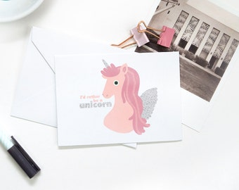 Folded Note Cards - Unicorn
