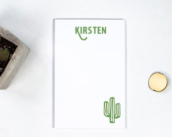 Personalized Notepad - Cactus