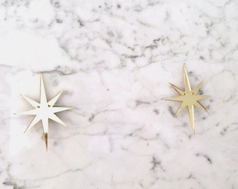 MidCentury Star Garland, Wedding Bunting, Gold Stars, Nursery Garland, Christmas Garland, Party Decor, Gold Acrylic, Wedding Garland
