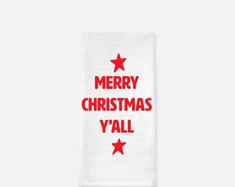 Merry Christmas Y'all Towel