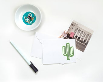 Folded Note Cards - Cactus