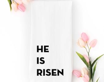 He Is Risen Tea Towel