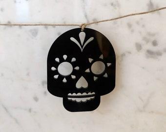 Sugar Skull Garland, Día de los Muertos Garland, Sugar Skull Decor, Día de los Muertos Party, Halloween Garland