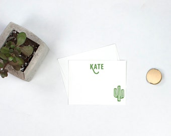 Personalized Note Cards - Cactus