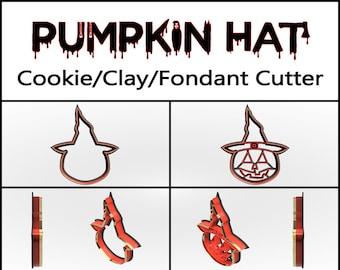 Pumpkin Hat Cookie Cutter, 3D Printed, Halloween Cookie Cutter, Cookie Cutter, Custom Cookie, Clay Cutter, Fondant Cutter, FunOrders