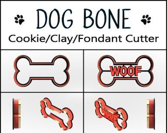 Dog Bone Cookie Cutter, 3D Printed, Pet Cookie Cutter,  Bakery Cookie Cutter, Custom Cookie, Clay Cutter, Fondant Cutter, FunOrders