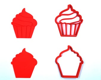 Cup Cake Cookie Cutter, Bakery Cookie Cutter, Custom Cookie, Clay Cutter, Fondant Cutter, FunOrders, Halloween Gift